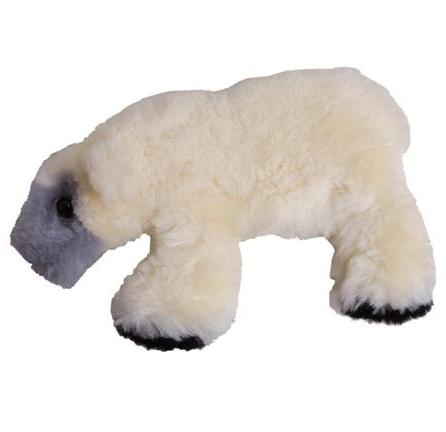 Polar Bear Lambskin Soft Toy