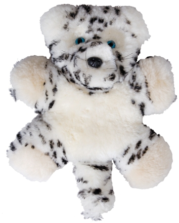 Snow Leopard Lambskin Soft Toy