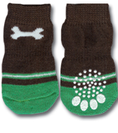 Dog Bone Brown Doggy Socks