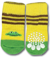 Yellow & Green Frog Doggy Socks