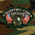 Support Our Troops Eagle