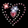 Heart with Hot Pink Stones