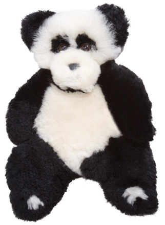 Panda Bear Lambskin Soft Toy