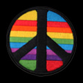 Peace Sign with Rainbow Background