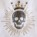 Skull with Crown Bling
